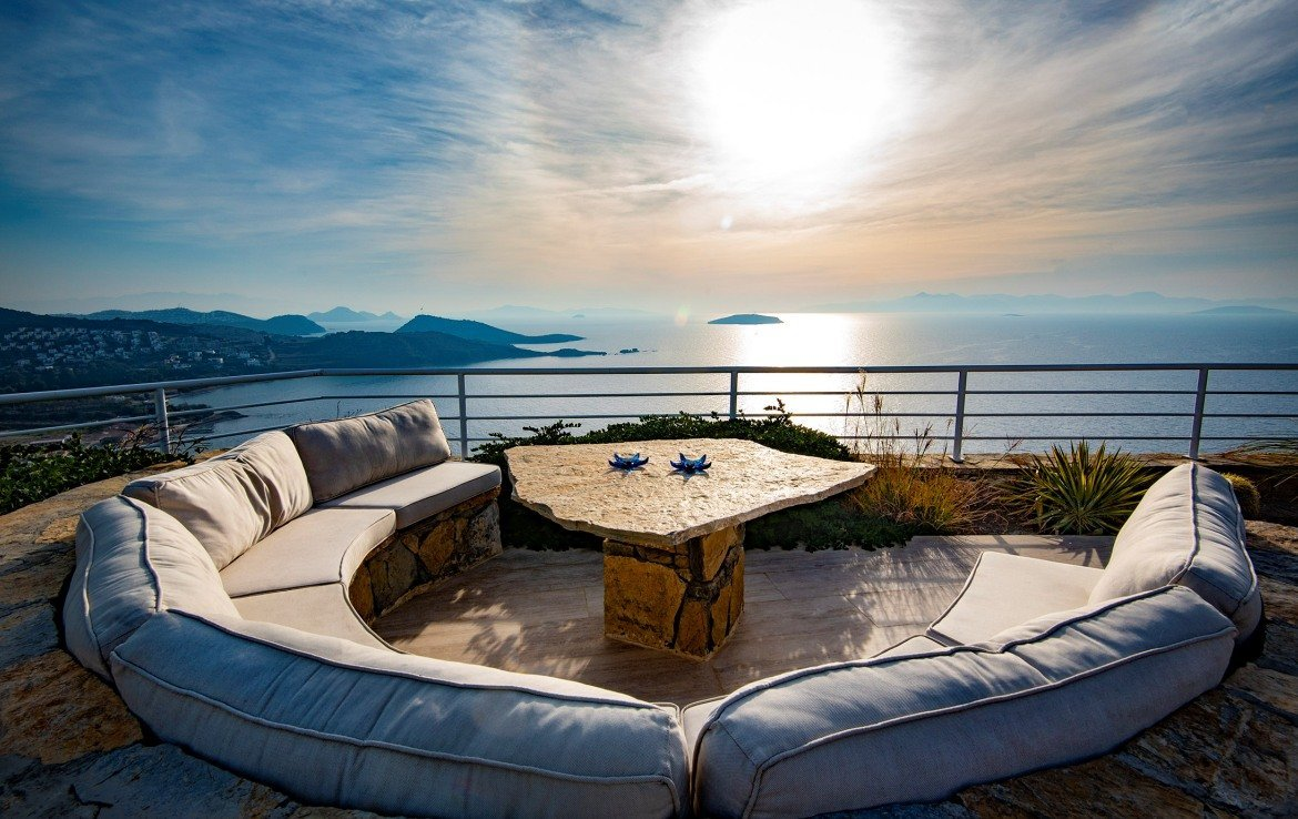 Property with a private pool and sea view for sale in Yalikavak