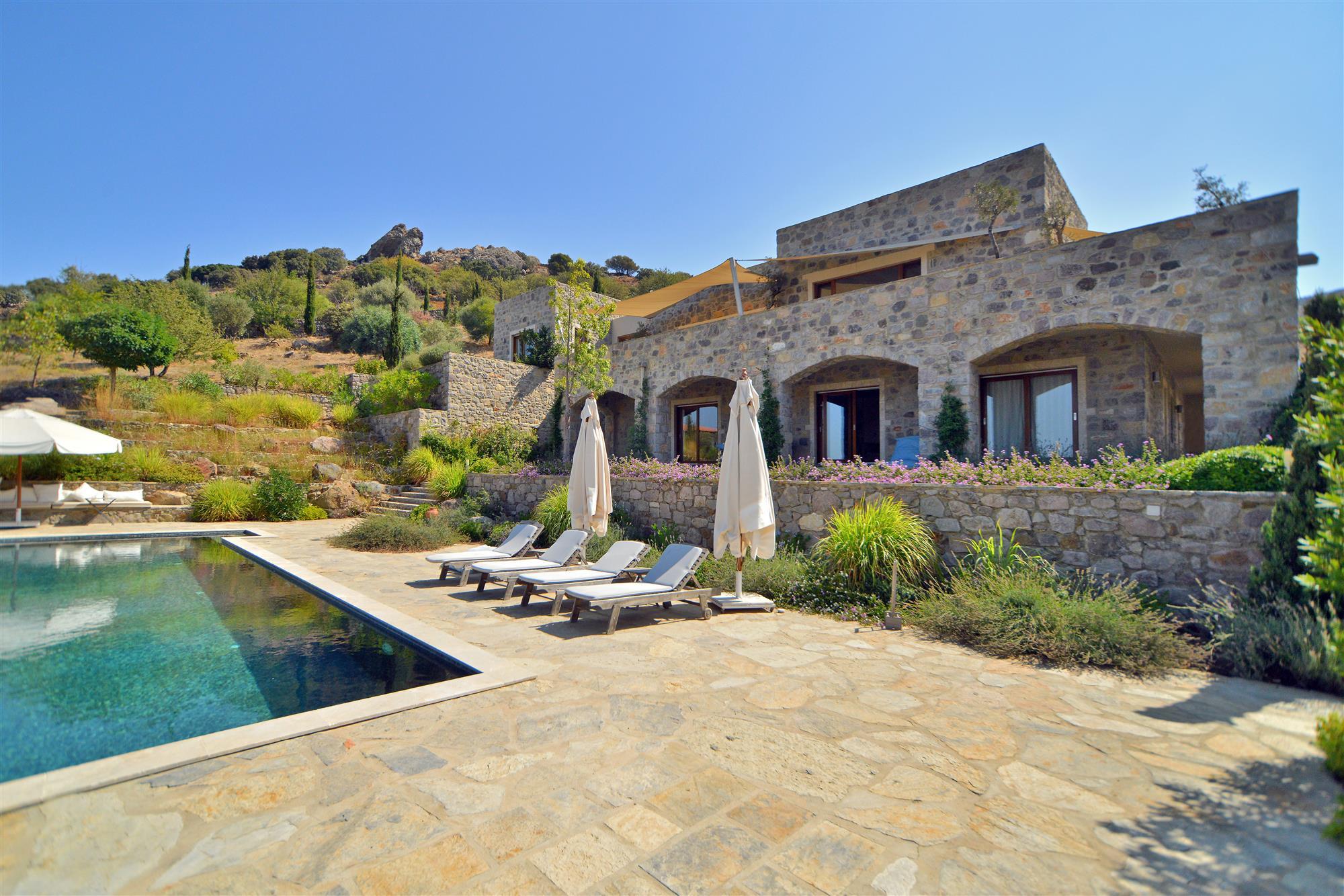 Stone villa with private pool