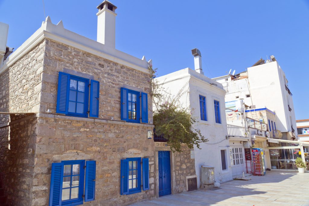 stone houses, luxury villas, Bodrum, Yalikavak, traditional architecture, Turkey