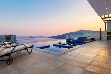 Gorgeous Kalkan villa for sale with infinity pool